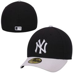 New York Yankees New Era Low Crown Diamond Era Performance 59FIFTY Fitted Hat - Navy Blue/White