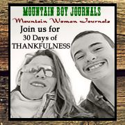 30 Days of Thankfulness Archives - Mountain Boy Journals
