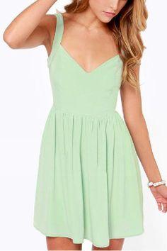 Back Bowknot V-neck Sleeveless Dress