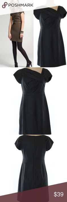 J. Crew Petite wool origami sheath dress 100% Wool. Excellent Condition. Like New. J. Crew Dresses