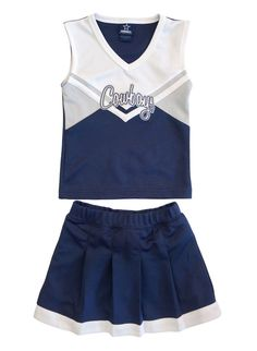 0b7971238 DALLAS COWBOYS Girls Cheerleader Outfit Navy Blue White Top Skirt 4T  AUTHENTIC  Cowboys  Everyday