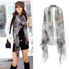 Cotton Fabric & Voile Scarf and Shawl, thermal, printed, floral, more colors for choice, 3PCs/Lot - yyw.com