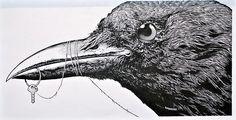 Aaron Horkey's Bon Iver illustration