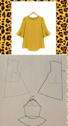 Sewing blouse diy 49 ideas Effective Pictures We Offer You About Women Blouse for party A quality picture can tell you many things. You can find the most beautiful pictures that can be presented to you about Women Blouse cott Dress Sewing Patterns, Blouse Patterns, Clothing Patterns, Blouse Designs, Fashion Pattern, Sewing Blouses, Blog Couture, Fashion Sewing, Diy Dress