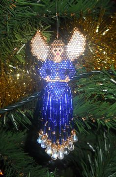 Beaded Christmas angels