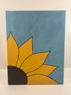 Kids Canvas Art, Small Canvas Paintings, Small Canvas Art, Cute Paintings, Diy Canvas, Beginner Canvas Painting Ideas, Canvas Draw, Simple Acrylic Paintings, Painted Canvas