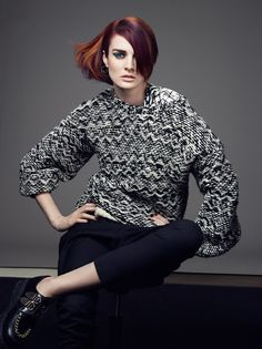 """""""Elegant Edge"""" is one of the key looks within the Traditional Rebels '15 Collection #TraditionalRebel #ColorZoom #HairStylist www.goldwell.com"""