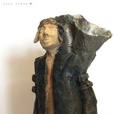 The Collector storms 2/ Ceramic Sculpture/ Man/ Unique Ceramic Figurine by arekszwed on Etsy