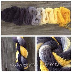 Hand Dyed Yarn Gradient Yarn Fingering Weight by WendysWonders127