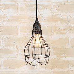Industrial Cage Work Light Pendant