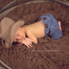 Newborn Jeans-- CROCHET PATTERN  PDF  Pattern Only--Instant Download/My Etsy Patterns