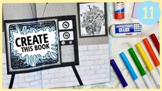 Create This Book Episode 11 Create This Book, Art Journal Prompts, Dotted Page, Drawing Prompt, Wreck This Journal, White Gel Pen, Easy Paintings, Gel Pens, Easy Drawings