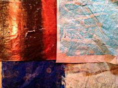Gelli Plate Printing on Wax & Tissue Paper