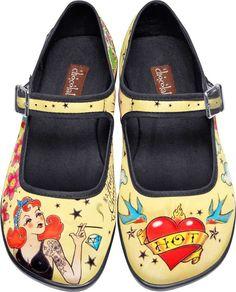 Hot Chocolate Shoes - Tattoo Flats - Buy Online Australia Beserk