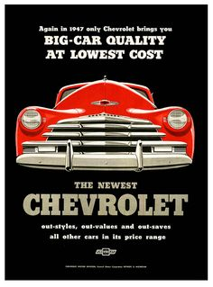 Vintage advertisement for Chevrolet - 1947