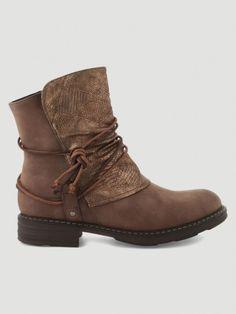 48670b6eff0f5e Achats - Chaussures · Boots Avant Irisé Et Laçage IXOO Marron - Achat Boots  Avant Irisé Et Laçage Marron pas