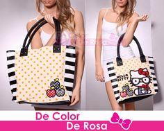 De color De Rosa » Bolsa Hello Kitty Preppy
