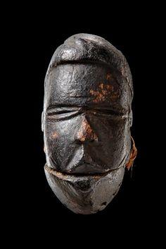 Miniature mask with hinged jaw Nigeria, Ogoni