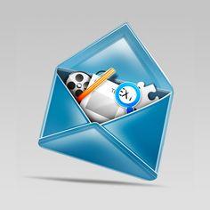 http://www.tutorial9.net/tutorials/photoshop-tutorials/design-a-stylish-mail-icon-in-photoshop/