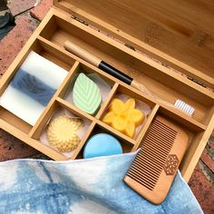 Bamboo Bento Plastic-Free Travel Toiletry Set - this would look so adorable in my luggage!