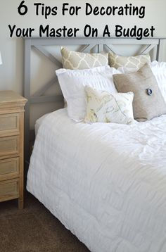 1. Faux headboard. Make your headboard the focal point. This is the biggest way that you can save money. You can make a headboard and just attach it to the wall. Then once you slide the bed up to t...