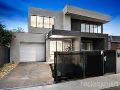 Cardiff Street, Bentleigh East, Vic View property details and sold price of Cardiff Street & other properties in Bentleigh East, Vic Duplex Apartment, Apartment Plans, Townhouse, Apartments, Duplex Design, House Design, Facade, Home Goods, Real Estate