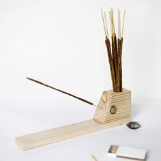 Make you own simple wooden incense holder!