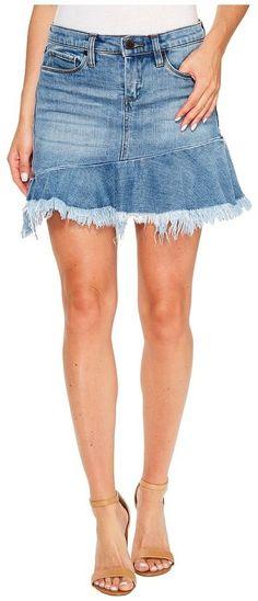 Blank NYC Denim Ruffle Mini Skirt in Fancy That