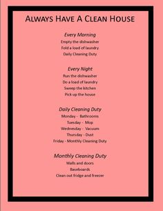 How To Always Have A Clean House   Diary Of A Moody Housewife