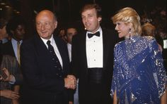 Mayor Ed Koch Donald Trump and Ivana Trump attend the Trump Tower opening in October 1983 at The Trump Tower in New York City