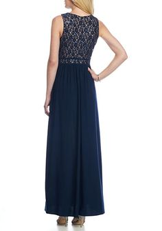 RM Richards Lace and Sequin Bodice Jersey Gown