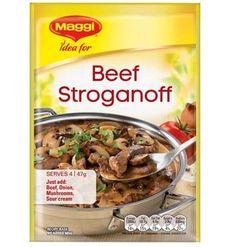Beef Stroganoff Stroganoff Recipe, Beef Stroganoff, Stuffed Mushrooms, Maggi Recipes, Rump Steak, Beef Strips, Fried Beef, Beef Stir Fry
