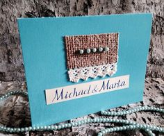 10 Wedding Invitations Blue. Set of 10. by paperitta on Etsy