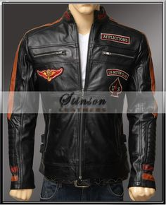 Material : Real Cowhide Leather Color : Black Outfit Type: BikerLeatherJacket Collar : Buttoned Collar Money Back Guarantee
