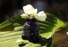 """Купить Флакончик для духов/минивазочка """"Таинственный аромат"""" - темно-фиолетовый, Марина Берулава, лэмпворк, вазочка, флакончик"""