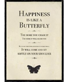 Happiness Is Like a Butterfly Picture - Browse All - East of India - Browse by Brand | TemptationGifts - Online Gift Retailer of the Year 2012/13