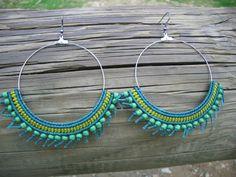 Macrame beaded earings by BessieSirioWorkshop on Etsy, €20.00