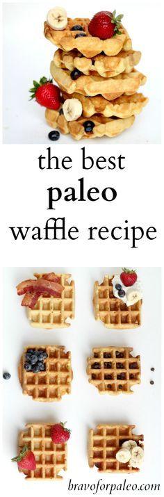 This is my FAVORITE gluten free, grain free, paleo waffle recipe!