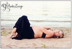 Maternity photography, Beach