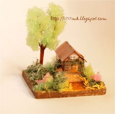 etsy seller 1717mk  Micro miniature - house for dollhouse