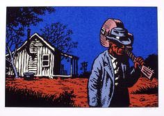 http://www.amazon.co.uk/gp/product/0810930862/ref=as_li_ss_tl?ie=UTF8&tag=barpagtip-21  Atmospheric illustration by Robert Crumb one of my favourite artists.