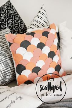 Part of Your World | DIY NO-SEW SCALLOPED PILLOW CASE (Motte)