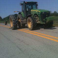Sharing the roads with tractors