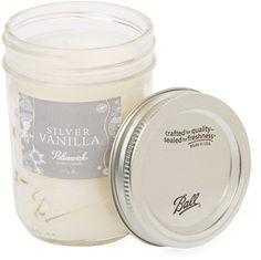 Bluewick Home Fragrance Holiday Mason Jar Silver Vanilla Candle (8 OZ)