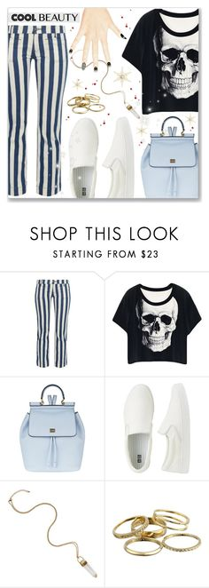 """Cool beauty"" by dressedbyrose ❤ liked on Polyvore featuring The Seafarer, Dolce&Gabbana, Uniqlo, Kendra Scott, women's clothing, women, female, woman, misses and juniors"