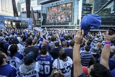 Toronto Maple Leafs invite fans to square to watch Game 2 against Boston Bruins in NHL playoffs