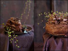 Milk chocolathe cake- more spring-looking diptych. | Flickr: Intercambio de fotos