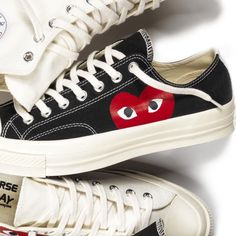 Play Comme des Garcons x Chuck Taylor All Star Cdg Converse, Outfits With Converse, High Top Sneakers, Shoes Sneakers, Comme Des Garcons, Converse Chuck Taylor All Star, Sports Shoes, Chuck Taylors, Me Too Shoes