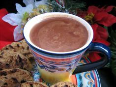 Stevia Hot Chocolate!  Was VERY tasty! I used 1 Truvia packet and doubled the recipe to 2 servings. I didn't have skim milk on hand so I used 2%.