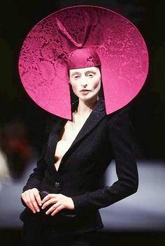 Fabulous Feb. Primm convention. Phillip Treacy hat. 1997. Timeless.